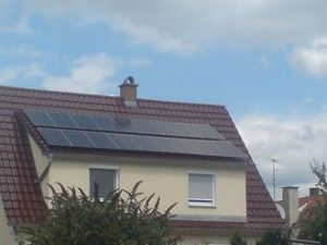 Solaranlage am Dachgiebel